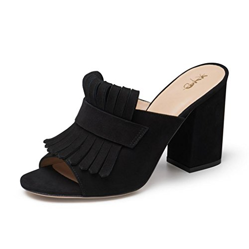 newest online XYD Cocktail Party Mule Shoes Women High Heel Slingbacks Open Toe Slip On Summer Sandals Black buy cheap browse store with big discount cheap comfortable cheap sale deals VGkAla