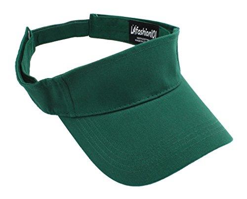 (LAfashion101 Sun Sports Visor Hat Cap - Classic Cotton for Men Women, DGN)