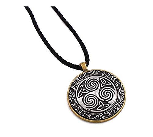 Mullingar Pewter Round Pendant Necklace - Swirls
