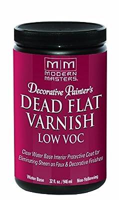 Modern Masters DP40032 Interior Dead Flat Varnish Low VOC Quart
