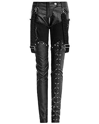 076347de63 Punk Rave Womens Jeans Pants Trousers Black Faux Leather Goth Dieselpunk  Punk: Amazon.co.uk: Clothing