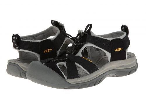 Keen(キーン) レディース 女性用 シューズ 靴 サンダル Venice H2 - Black/Neutral Gray [並行輸入品]