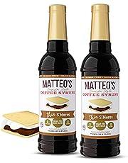 Matteo's Sugar Free Coffee Flavoring Syrup, S'Mores, Delicious Coffee Syrup, 0 Calories, 0 Sugar coffee syrups