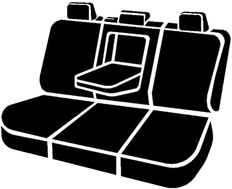 Gray Polyester, FIA SP82-69 Gray Custom Fit Rear Seat Cover 2nd Row 40//20//40