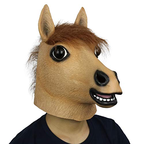 (FantasyParty Novelty Halloween Costume Party Animal Realistic Horse Head)