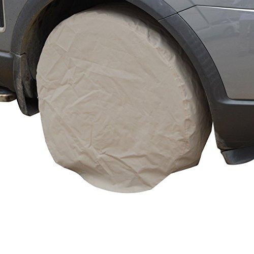 Tangkula Set Of 4 Rv Wheel Tire Covers Auto Truck Car