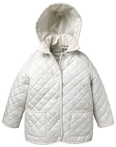Lilly & Milly Girls and Baby Removable Hood Quilted Jacket - White (Size 18M)