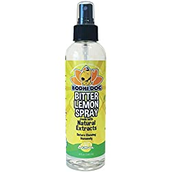 NEW Bitter Lemon Spray | Stop Biting and Chewing for Puppies Older Dogs & Cats | Anti Chew Spray Puppy Kitten Training Treatment | Non Toxic | Professional Quality - Made in USA - 1 Bottle 8oz (240ml)