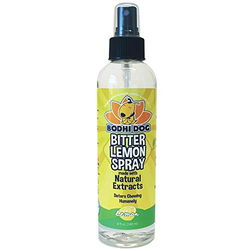 NEW Bitter Lemon Spray | Stop Biting and Chewing for Puppies Older Dogs & Cats | Anti Chew Spray Puppy Kitten Training Treatment | Non Toxic | Professional Quality - Made in USA - 1 Bottle 8oz (240ml) (Best Things For Dogs To Chew On)