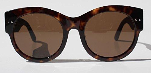 BOTTEGA VENETA INTRECCIATO Leather BV0057SK Brown Havana Sunglasses 0057K 0008