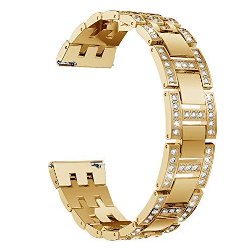 22MM Jewel Watch band for 22mm Bar width watch,Crystal Rhinestone Diamond Metal watch band for MK Bradshaw/Fossil Q Wander,Machine,Marshal Gen 2,GEAR S3 Frontier,Gold