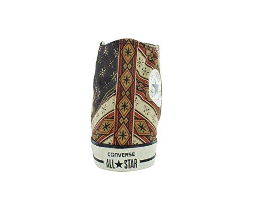 Converse AS HI CAN OPTIC. WHT M7650 - Botines de lona unisex, color blanco Burnt Umber/Fire Brick/Willow