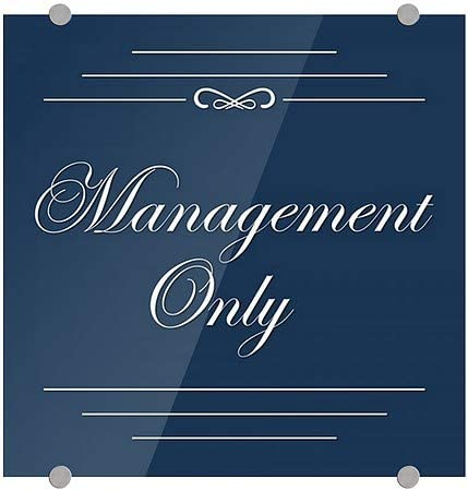 5-Pack Management Only Classic Navy Premium Brushed Aluminum Sign CGSignLab 16x16