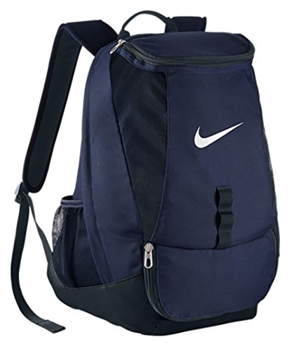 NIKE Club Team Swoosh Backpack [Midnight Navy/Black/White] (OS) (Bag Nike Ball Soccer)