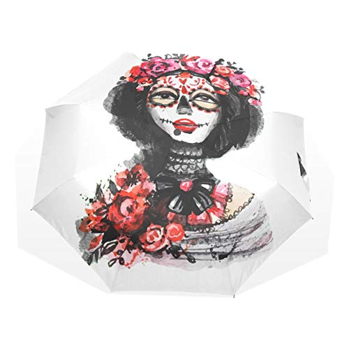 Mr.Lucien Watercolor Halloween Make Up Woman Flower Folding