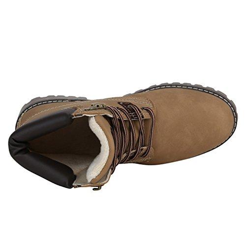 Stiefelparadies Herren Worker Boots Profilsohle Flandell Khaki Brito