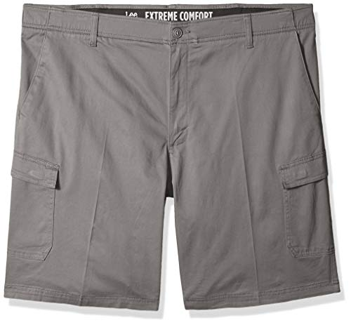 (LEE Men's Big and Tall Big & Tall Peformance Series Extreme Comfort Cargo Short, Iron, 44)