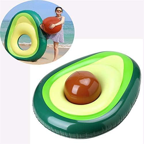 アボカドスイミングリング、巨大インフレータブル、楽しいプールフロートボール付きフロート、子供用大人用夏のスイミングプールラフトラウンジビーチフローティパーティー