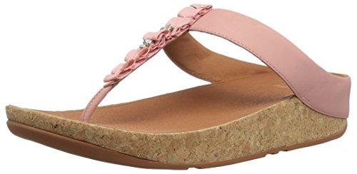 Sandalo Fitflop Damen Ruffle Toe-thong Rosa Peeptoe (rosa Scuro)