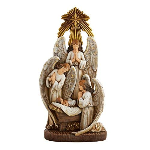 (Angels in Adoration Resin Christmas Nativity Figurine Statue, 13 Inch)