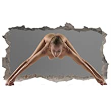 Mural Wall Art Startonight 3D Photo Decor Sexy Naked Girl Amazing Dual View Surprise Large 32.28 inch By 59.06 inch Wall Mural Wallpaper for Living or Bedroom Collection Wall Art