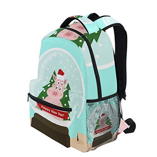 Travel Women Men Ahomy for Bag Backpack Tree Book for Year Girls Teenager Hiking School Satchel Bag Pig Boys New Backpack 7Urxq7wTH