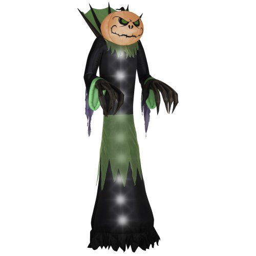 Gemmy Airblown Halloween Pumpkin Head Reaper, 14-Feet by Gemmy