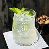 Personalized Libbey Bravura Double Rocks/Old Fashioned Glass