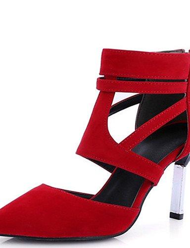 GGX/ Damenschuhe-High Heels-Kleid / Lässig / Party & Festivität-PU-Stöckelabsatz-Absätze / Spitzschuh-Schwarz / Rot / Mandelfarben almond-us6.5-7 / eu37 / uk4.5-5 / cn37