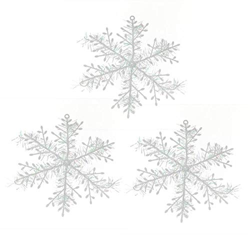 VietHandmade Artificial Snow & Snowflakes - 3pcs Christmas White Snowflake Xmas Trees Hanging Pendant Window Party Decor Xmas Holiday Christmas Ornaments Home Decoration 1 PCs