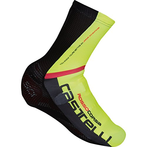 Castelli 2018 Aero Race MR Cycling Shoecover - S16031 (Black/Yellow Fluo - L) ()