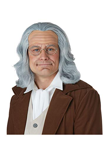 California Costumes Men's Benjamin Franklin Wig-Adult, Gray, One Size