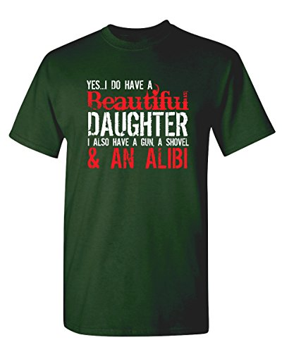 Yes-I-Have-A-Beautiful-Daughter-Funny-Fathers-Day-Novelty-T-Shirt-S-Forest