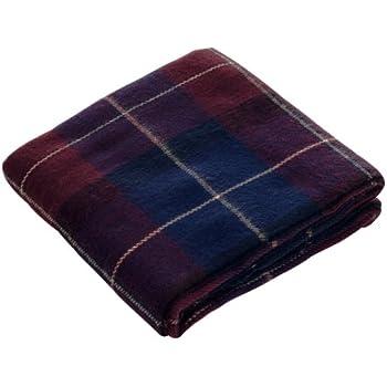 Lavish Home Throw Blanket, Cashmere-Like, Blue/Red