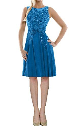 Abendkleider Tuell Chiffon Aermellos Elegant Rueckenfrei Rundkragen Lang Abiball 1 Blau Abschlussball Festkleider Missdressy Satin Ballkleider BxqHBZ