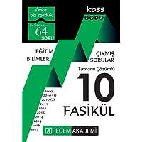 KPSS 2018 Eğitim Bilimleri 2009 - 2017 Tamamı Çözümlü 10 Fasikül Çıkmış Sorular