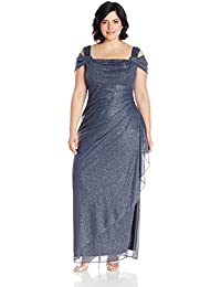 3b145d0dcf Women s Plus Size Cold-Shoulder Dress Side Ruched Skirt
