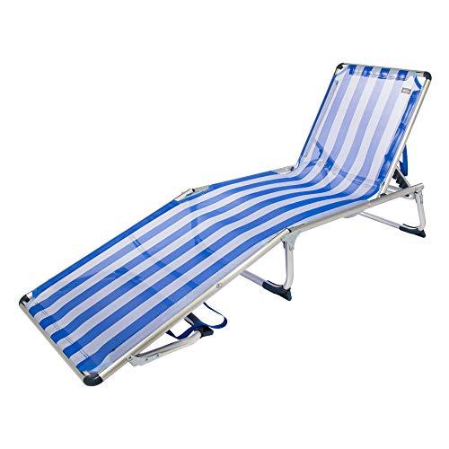 🥇 Aktive 53978 Tumbona Plegable 5 Posiciones Aluminio Beach