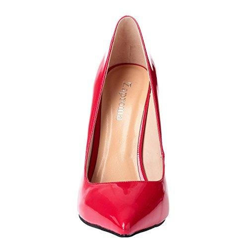 Pointu Stiletto Pompes Toe Hauts Fermer Chaussures Rouge Femmes Talons de ZAPROMA À Mariage xawUXC8Hq