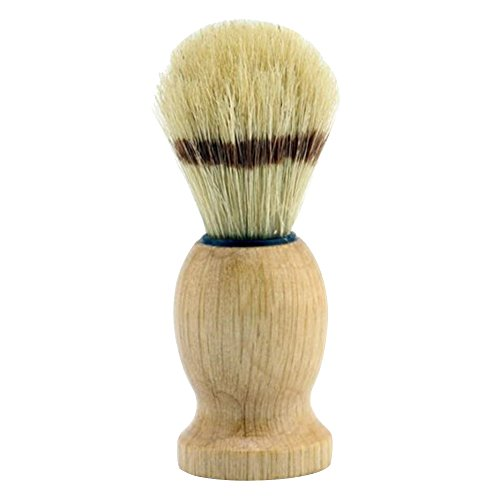 Happy Hours - Men's Facial Cleaning Appliance Wooden Handle Artificial Eco Badger Shaving Brush for Lathering Soaps, Foam, Gels and Creams
