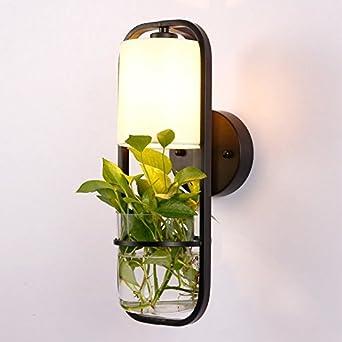 Chenhuachinois Plantes Pot En Fer Mur Moderne Créatif Lampe Verre bYf76yg