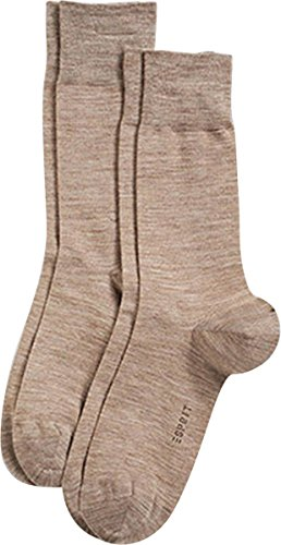 Wool Esprit - Nutmeg Brown Basic Elegant Wool 2 Pack Socks by Esprit - Medium