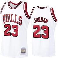 WOLFIRE WF Camiseta de Baloncesto para Hombre, NBA, Chicago Bulls #23 Michael Jordan. Bordado, Transpirable y Resistente…