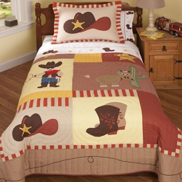 Pem America Cowboys Full Sheet Set (flat & fitted sheet and 2 pillow cases)