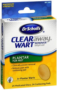 Dr. Scholl's Clear Away Wart Remover Plantar 24 ea (Pack of 2)