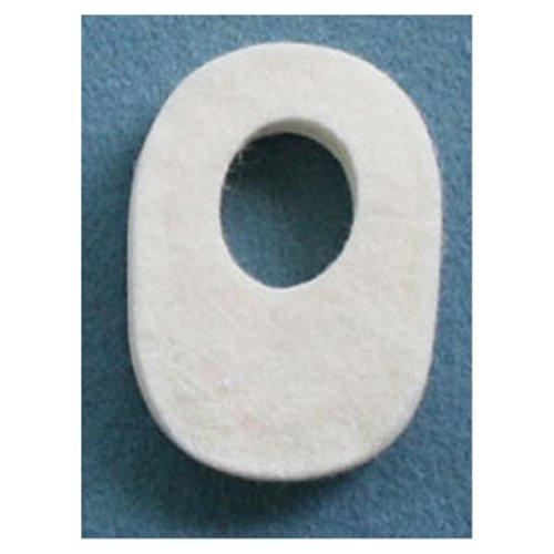 Oval Callus / Bunion Cushions, 1/8'' Adhesive Felt, 100 Pads/Pack