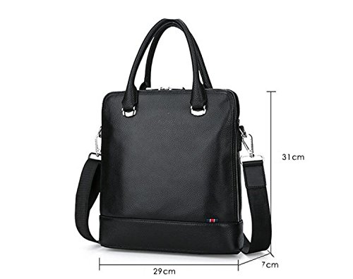 Briefcase Business Computer Leisure Handbag Black2 Leather Messenger Bag Fashion Male Outdoor RnRf60