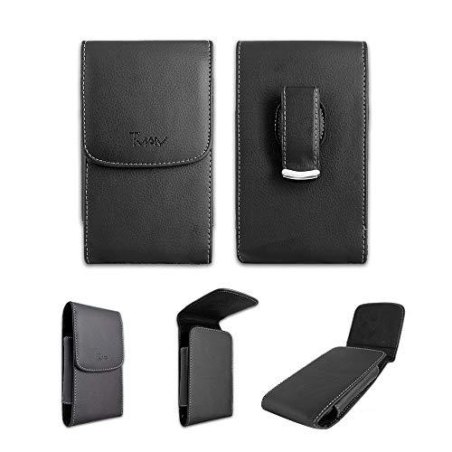 FastSun ZTE Avid 559 Leather Case, Synthetic Leather Case Pouch Belt Holster for Consumer Cellular ZTE Avid 559 ATT/Metro Avid 4 Z855 (Metro Zte Phone Cases)