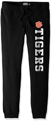 NCAA Clemson Tigers Women's Ots Fleece Pants, Large, Jet Black