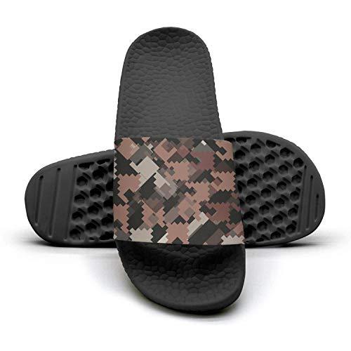 sedoied Unisex Slides Sandals Checkerboard Pattern Houndstooth Design Water-Resistant Memory Foam Athletic Shower Slide Sandal